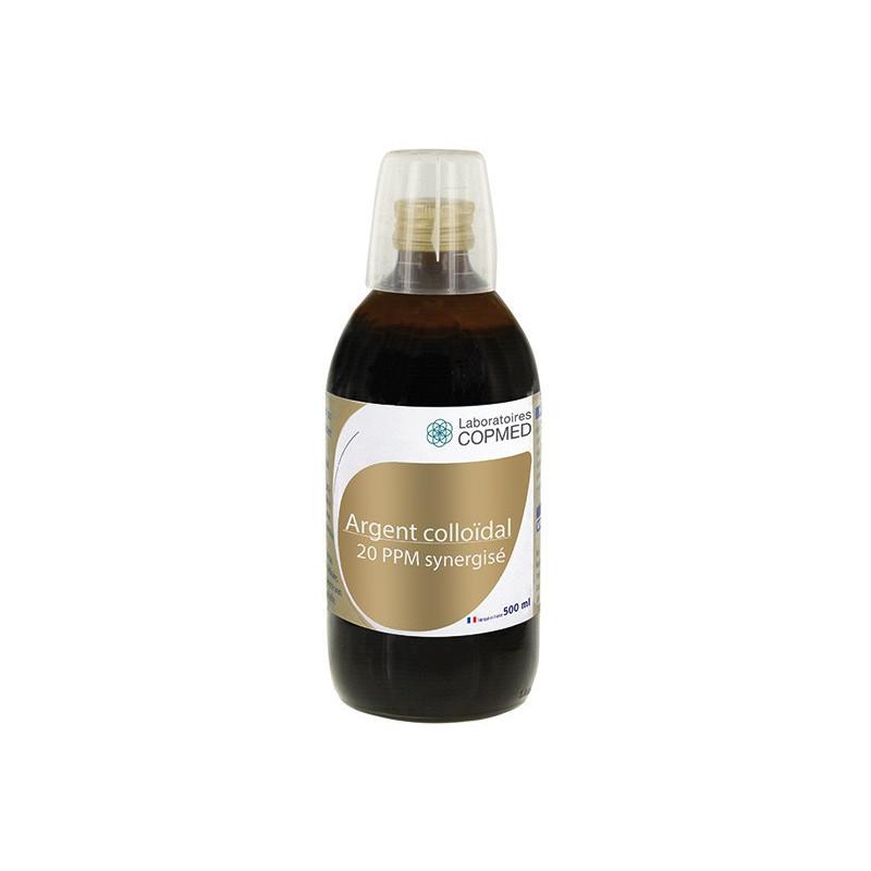 Argent colloïdal 20 PPM synergisé 500 ml